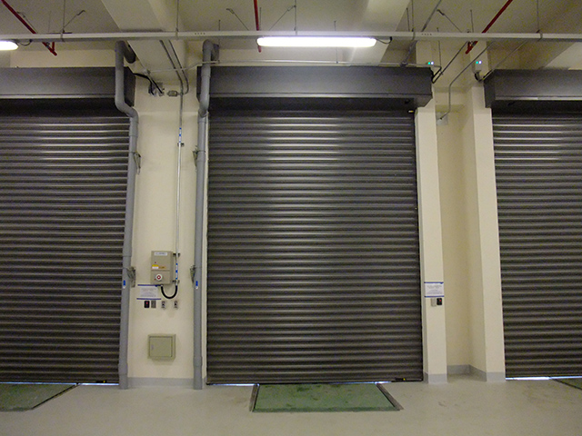 Painted Galvanized Steel Anti-typhoon Roller Shutter Model 110